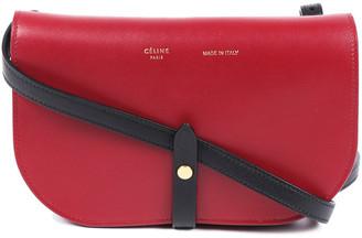 Celine Black & Red Leather Crossbody