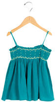 Bonpoint Girls' Sleeveless Gathered-Accented Top