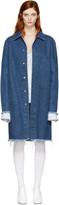 Marques Almeida Blue Denim Mackintosh Coat