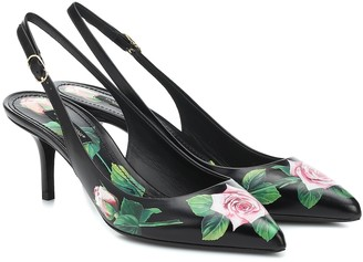 Dolce & Gabbana Lori leather slingback pumps
