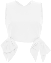 MSGM Sleeveless Bow Top