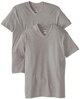 Hanes Men's Nano Premium Cotton V-Neck T-Shirt (Pack of 2)