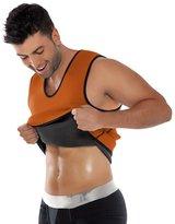 Acme Mens Slimming Sweat Vest Hot Neoprene Shirt Short Sleeve with Side Zipper