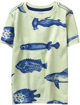 Crazy 8 Willow Green Fish Tee - Infant, Toddler & Boys