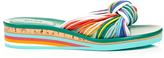 Chloé Spaghetti-knot leather wedge slides