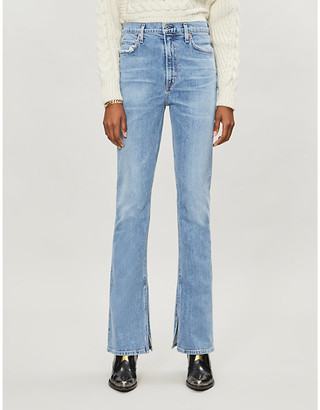 Citizens of Humanity Georgia split-hem high-rise flared jeans
