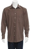Burberry Plaid Houndstooth Shirt