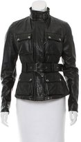 Belstaff Leather Fitted Jacket