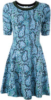 Kenzo snakeskin effect knitted dress - women - Cotton/Spandex/Elastane - 42