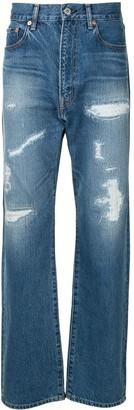 Junya Watanabe High-Waisted Straight Leg Jeans