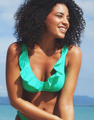 Figleaves Rene Underwired Non Pad Frill Bikini Top D-GG