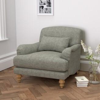 The White Company Petersham Armchair Tweed, Tweed Mid Grey, One Size