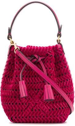 Anya Hindmarch woven design shoulder bag