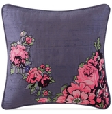 "Tracy Porter Nell Embroidered Faux-Silk 16"" Square Decorative Pillow"