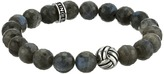 King Baby Studio Monkey Knot 10mm Faceted Bead Bracelet Bracelet