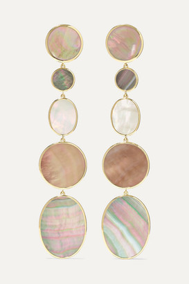 Ippolita Polished Rock Candy 18-karat Gold, Shell And Mother-of-pearl Earrings - one size