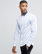 Lindbergh Shirt In Regular Fit With Contrast Collar