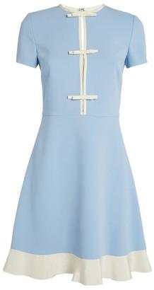 RED Valentino Contrast-Trim Mini Dress