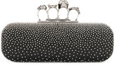 Alexander McQueen Studded Knuckle Box Clutch - women - Leather/metal - One Size