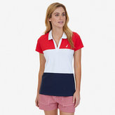 Nautica Horizontal Color Blocked Polo Shirt