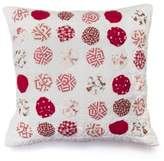 Amity Home Pom-Pom Square Throw Pillow in Red