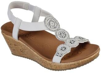 Skechers Beverlee - Date Glam 119010 Ofwt Off White Sandal