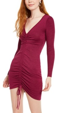 Almost Famous Crave Fame Juniors' Ruched Bodycon Dress