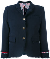 Thom Browne contrast hem blazer - women - Silk/Cotton - 40