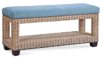 Braxton Culler Hackney Wicker Shelves Storage Bench Upholstery: Cool Cheetah