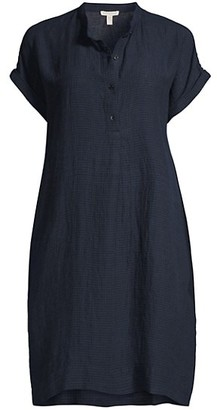 Eileen Fisher Organic Linen Midi Dress