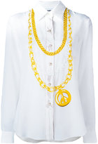 Moschino medallion print shirt - women - Silk - 38