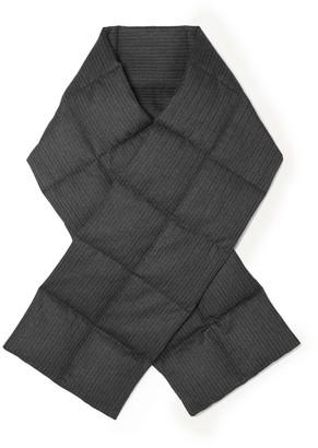 Dries Van Noten Felice Quilted Pinstriped Herringbone Wool Down Scarf