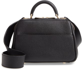 Valextra Mini Serie S Leather Top Handle Bag