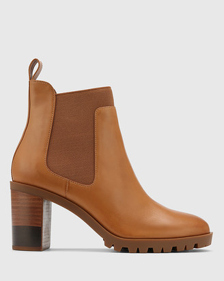 Wittner - Women's Brown Boots - Purcell Leather Block Heel Ankle Boots - Size One Size, 36 at The Iconic