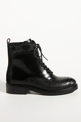 Jeffrey Campbell Fisher Lace-Up Boots By in Black Size 6