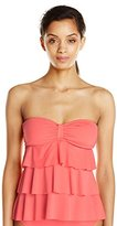 Kenneth Cole Reaction Women's Ruffle-Licious Tiered Tubini