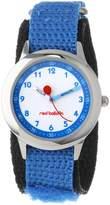 Red Balloon Kids' W000198 Blue Velcro Stainless Steel Time Teacher Watch