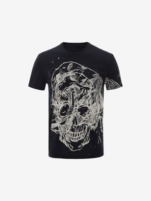 Alexander McQueen Etched Skull T-Shirt