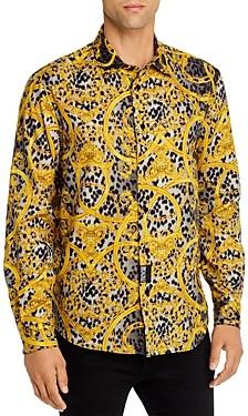 Versace Leo Chain Regular Fit Button-Down Shirt