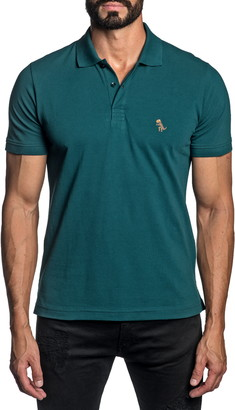 Jared Lang Trim Fit Pima Cotton Polo