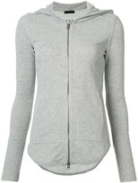 ATM Anthony Thomas Melillo hooded zip up cardigan - women - Cotton/Polyester - M