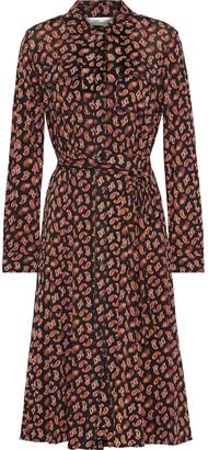 Diane von Furstenberg Andi Printed Mesh Shirt Dress