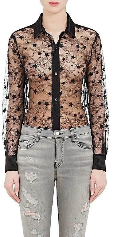 Amiri Women's Sheer Star-Lace Blouse