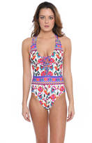 Nanette Lepore Antigua Goddess Floral One Piece Swimsuit