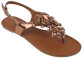Star Bay Women's Sandals Bronze - Bronze Floral Sandal - Women