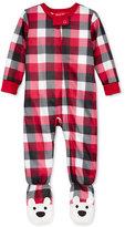 Family Pajamas Baby Boys' or Baby Girls' Buffalo Plaid Footed Pajamas, Only at Macy's