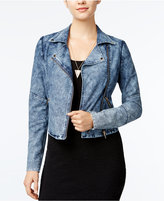 Material Girl Denim Moto Jacket, Only at Macy's