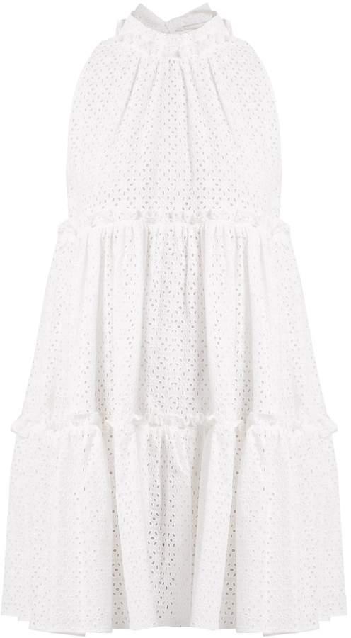 Lisa Marie Fernandez Mini ruffle-trimmed broderie-anglaise cotton dress
