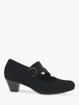 Gabor Strawberry Wide Fit Suede Mary Jane Court Shoes, Black
