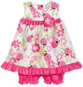 Bonnie Baby 2-Pc. Ladybug-Print Open-Back Dress and Shorts Set, Baby Girls (0-24 months)